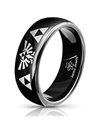 Atomic Jewelry Legend of Zelda Triforce Tungsten Carbide