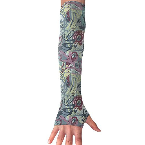 FTRGRAFE Fantastic Funghi Mushrooms Unisex Anti-UV Arm Long Sleeves Gloves Cover,Sense Of Ice Sunscreen Protection Cooling Cuff Gloves For Outdoor Sports-1 Pair