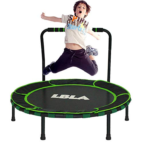 LBLA 36-Inch Trampoline for Kid Foldable Children Trampoline with Adjustable Handrail Safty Padded Cover Indoor/Outdoor Use for Child Age 3+