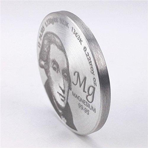 Homenaje a descubridor de magnesio 1,5 pulgadas Diámetro Pure MG metal moneda: Amazon.es: Industria, empresas y ciencia