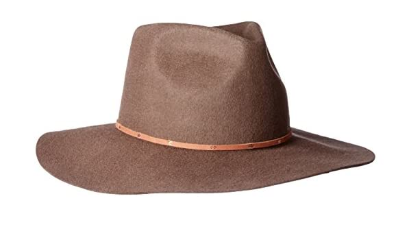 61e4be76d559a San Diego Hat Co. Men's Pinched Crown Wool Felt Hat with Brim, Brown ...