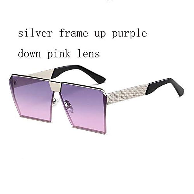 Vintage Sole Uomo Oversized Sunglasses Eyewear Donna Lens Flat Uv400 For Shape Square Women Wzymntyj Occhiali Da New