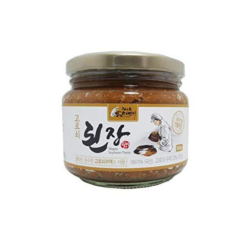 (Korean Traditional Organic Fermented Miso Soybean Paste 17.6oz / 500g No Preservative K-foods [된장])