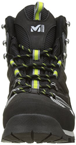 MILLET Men's Route GTX High Rise Hiking Shoes Grey (Charcoal/Acid Green) Pfjno