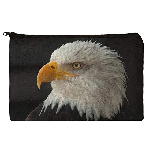 Stoic Bald Eagle Pencil Pen Organizer Zipper Pouch for sale  Delivered anywhere in USA