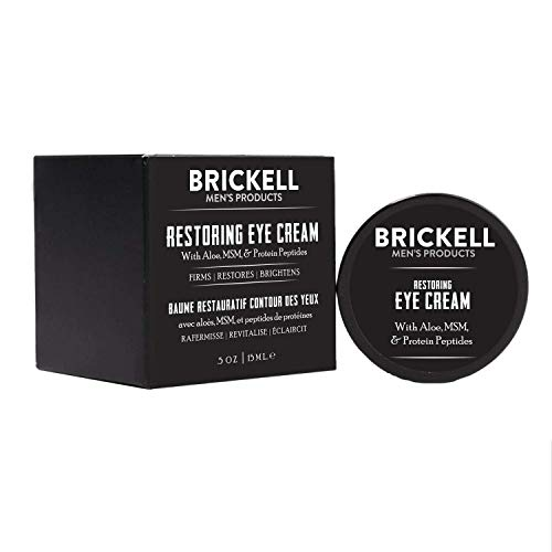 Brickell Men's Restoring Eye Cream for Men, Natural and Organic Anti Aging Eye Balm To Reduce Puffiness, Wrinkles, Dark Circles, Crows Feet and Under Eye Bags, .5 Ounce, Unscented 3