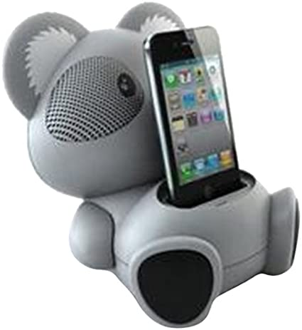 Impecca AS602 6-Watt Universal Portable Stereo Speaker with Aux-Input and 30-Pin Dock Koala Character