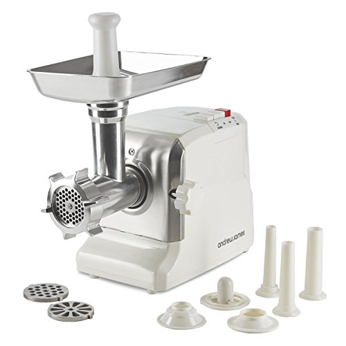 Andrew James Electric Meat Grinder and Mincer | 700W | Includes 3 Sausage...