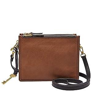 Fossil Women's Campbell Leather Crossbody Purse Handbag