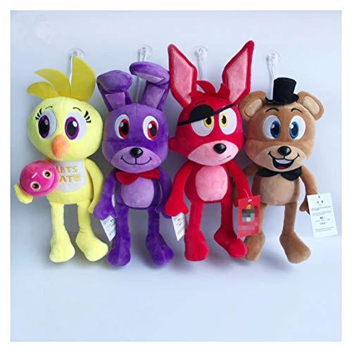 1PC - 30cm FNAF Fi-ve Nights at Fred-dy Plush Toys Long Leg Bear Foxy Bonnie Chica Golden Fred-dy Nightmare Fredbear Kids Doll -
