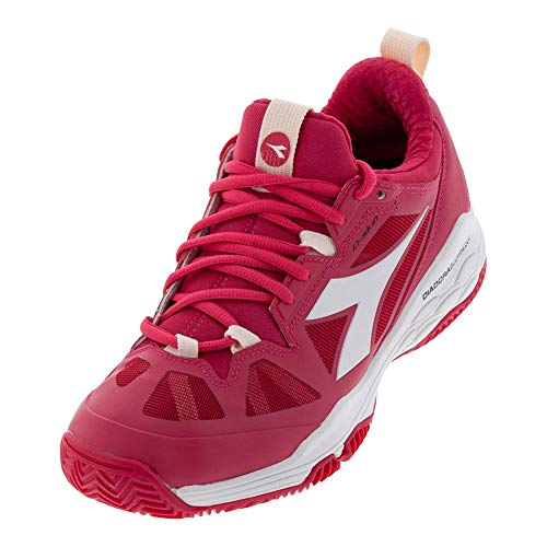 (Diadora Women`s Speed Blushield Fly 2 Clay Tennis Shoes Virtual Pink and White (8.5 Virtual Pink and White))