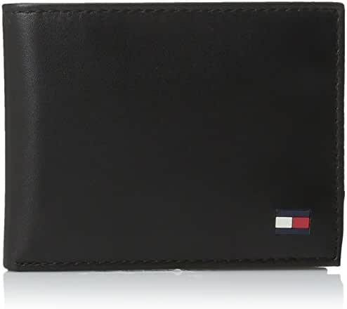 Tommy Hilfiger Men's Leather Dore Passcase Billfold Wallet with Removable Card Case