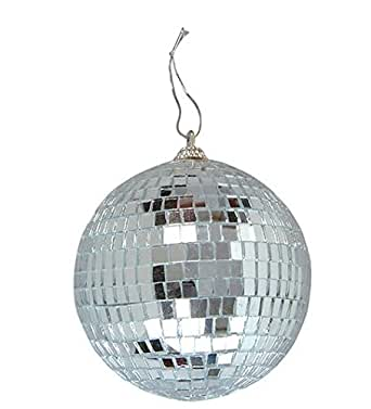 Mirror disco ball 4 inch cool and fun silver hanging party disco disco ball lamps aloadofball Images
