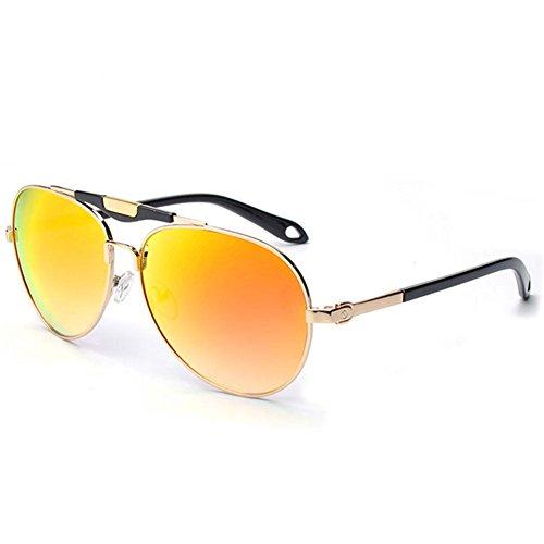 KaiSasi 2016 New Men Sunglasses Yurt Reflective Metal Double Beam Sunglasses Ms ()