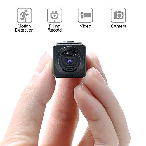 JIASHU Mini Spy Hidden Camera Hd 1080P Portable Small Nanny Cam Surveillance Magnetic with Night Vision and Motion Detective,Perfect Indoor Covert Security Camera