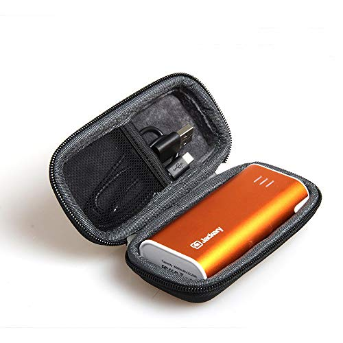 Hermitshell Hard EVA Travel Black Case Fits Jackery Bar Premium 6000mAh External Battery Charger Power Bank