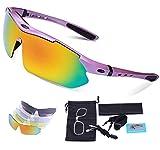 Cycling Glasses, Carfia TR90 Polarized Sports Sunglasses 100% UV400 Protection for Men Women