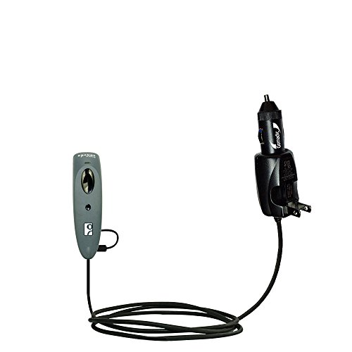 Advanced Gomadic 2 in 1 Auto / Car DC Charger Compatible with Socket CHS Scanners 7Ci 7Di 7Mi 7Pi 7Xi 7XiRx 8Ci with Foldable Wall AC Charging plug - Amazing design built with TipExchange Technology