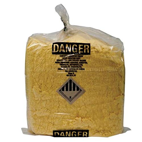 Asbestos Containing Material (ACM) Liners, 35 Gallon, 30 inches x 40 inches, 6 mil - 100 /roll (1 roll)