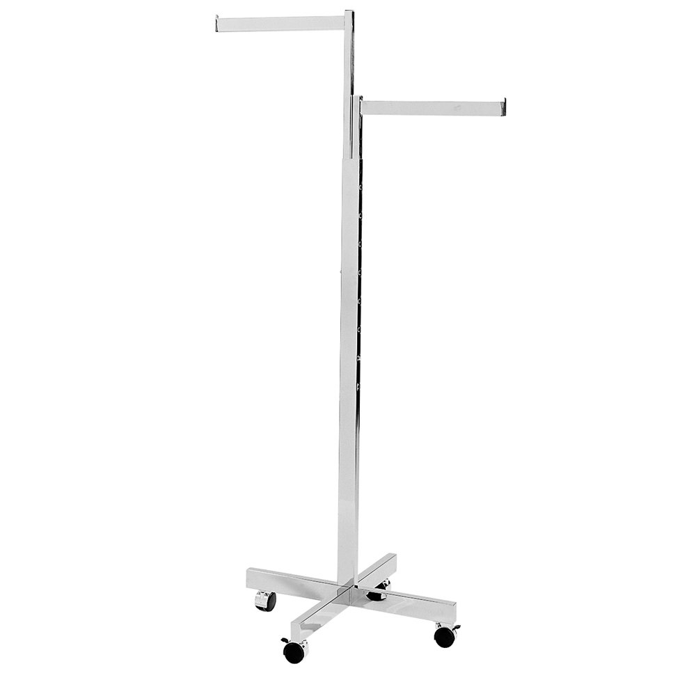 Econoco Commercial 2-Way Heavy Duty Straight Arms with X Style Base, Rectangular Tubing