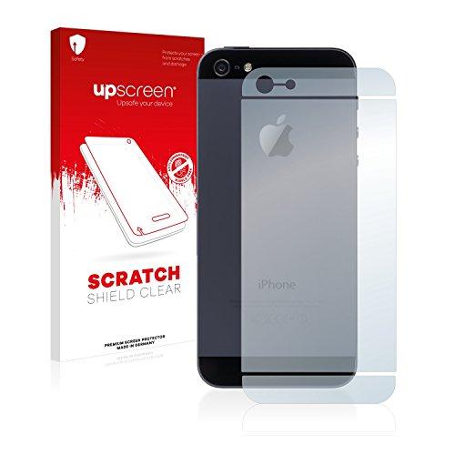 upscreen Scratch Shield Pellicola Protettiva Apple iPhone 5 Posteriore (intera superficie) Protezione Schermo – Trasparente, Anti-Impronte