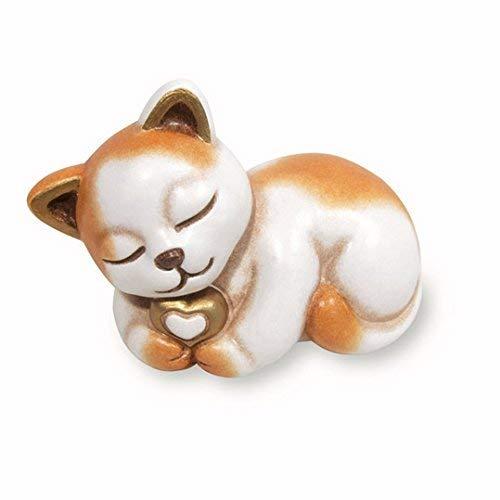 Thun® - Gatto Piccolo con Cuore - Animali Soprammobile da Collezione - Ceramica - I Classici