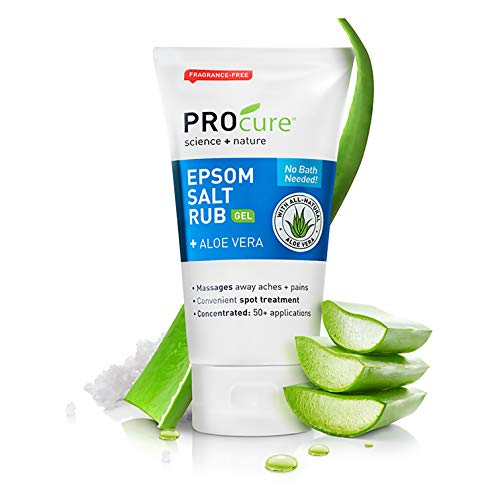 ProCure Epsom Salt Rub Gel with Aloe Vera, 6 Ounce Tube, 2 Count Aloe Vera Salt Cream