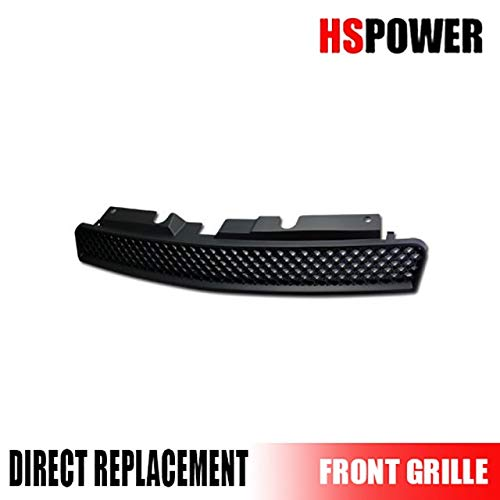 HS Power Black Finished Sport Mesh Front Hood Bumper Grill Grille Cover for 2006-2011 Chevy Impala | Monte Carlo LT/LS / - Carlo Monte Grill Bar