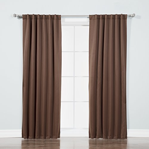 Best Home Fashion Thermal Insulated Blackout Curtains - Back Tab/Rod Pocket - Chocolate - 52'' W x 72'' L - (Set of 2 Panels) by Best Home Fashion