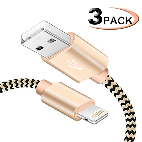 Software : IceFrog SWEET-204 iPhone Charger, 5'/1.5 M Nylon Braided Lightning Cable For iPhone /6s/6s Plus/7/7 Plus /SE/5s/5/iPad/Ipod And More IOS Devices, Gold, 3 Piece