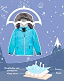 Wantdo Girl's Waterproof Ski Jacket Warm Raincoat