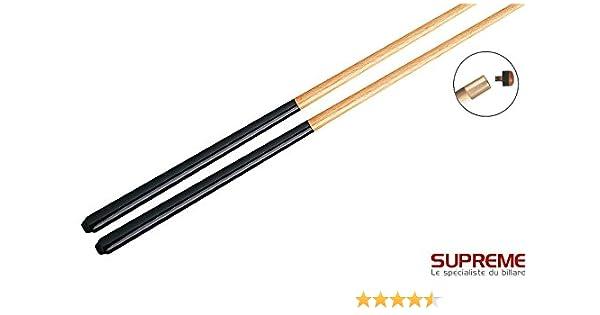 Supreme – – Juego 2 Tacos Billar Standard 108 cm 1pc: Amazon.es: Deportes y aire libre