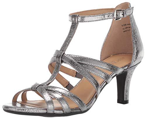 Aerosoles Women's PASSIONFRUIT Heeled Sandal, Silver, 10 M US