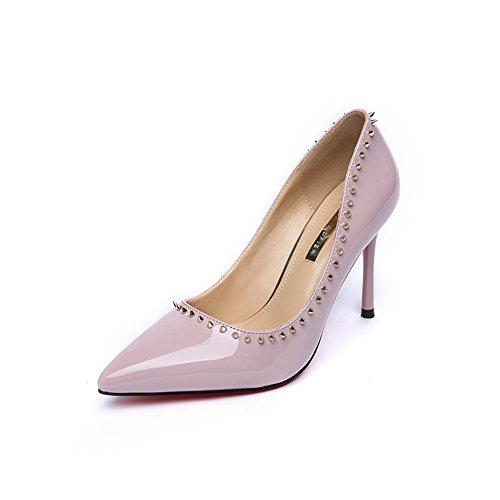 Hoxekle Donne Sexy Tacchi Alti Pompe A Spillo Primavera Moda Nuovo Elemento Scarpe Rosa