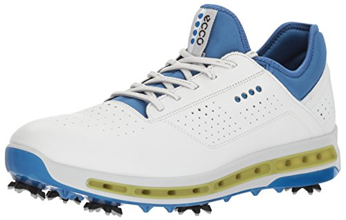 ECCO Men's Cool 18 Gore-Tex Golf Shoe, White/Dynasty, 10 M US