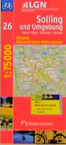 Topographische Sonderkarten Niedersachsen. Sonderblattschnitte auf der Grundlage der amtlichen topographischen Karten, meistens grösseres ... Niedersachsen, Bl.26, Solling und Umgebung
