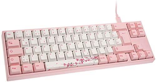 Ducky Miya Pro Sakura Edition, Mx-Brown, pink-led – Weis/Pink