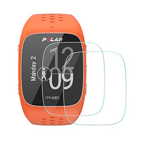AWINNER Glass for Polar M400 M430,Screen Protector Ultra-Clear Tempered-Glass for Polar M400 M430 Smartwatch (2-Pack)