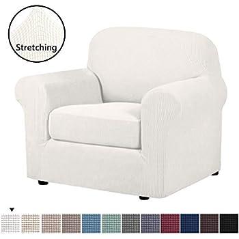 Astounding Amazon Com Subrtex 2 Piece High Stretch Slipcovers Durable Andrewgaddart Wooden Chair Designs For Living Room Andrewgaddartcom