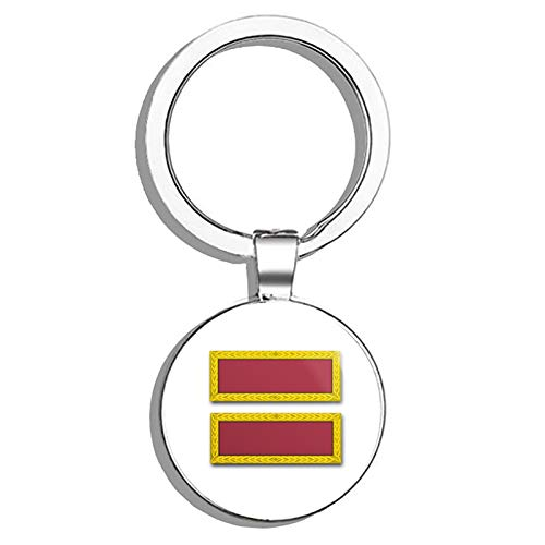 HJ Media US Army Meritorious Unit Commendation Ribbon Metal Round Metal Key Chain Keychain Ring (Commendation Meritorious Ribbon Unit)