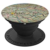 Map of Paris - PopSockets Grip and Stand for Phones and Tablets