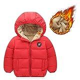 Kids Winter Thick Warm Fuzzy Fur Lined Jacket Boys