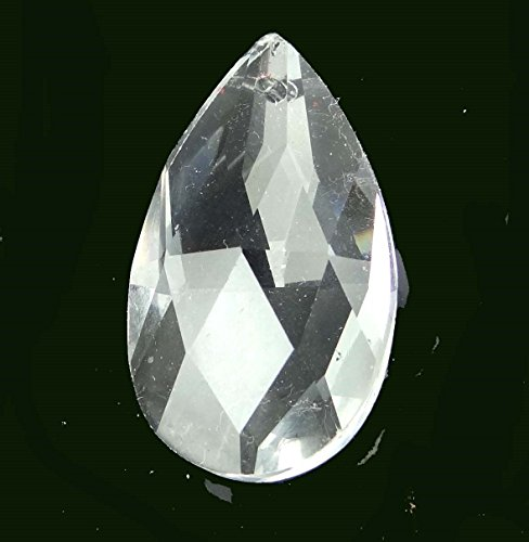 (38mm Clear Glass Quartz Faceted Teardrop Pendant Bead)