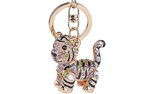 (Giftale Sparkly Tiger Handbag Accessories Key Chain for Women Bag Purse)