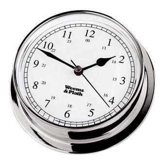 Weems & Plath Endurance Collection 125 Quartz Clock (Chrome) by Weems & Plath