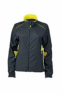 James & Nicholson Women's JN475 Performance Running Jacket iron-grey/lemon M