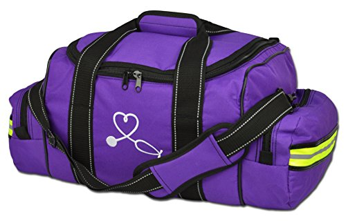 UPC 853241006405, Lightning X Large EMT Nurse/Midwife First Responder EMS Trauma Bag w/ Dividers (Purple)