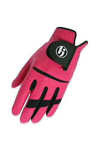 HJ Glove Men's Worn on Left Hand Gripper II Golf Glove, X-Large, Hot Pink (Glove Golf Pink)