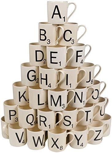 Scrabble Coffee Mug - Choose Your Letters Letter F: Amazon.es: Juguetes y juegos