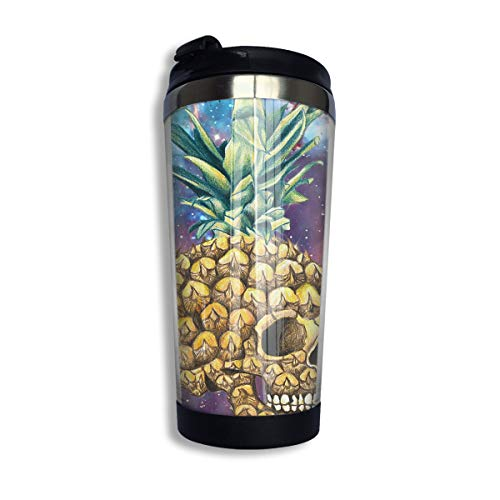 Coffee Thermos Cup Galaxy Pineapple Skull Stainless Steel Travel Mug Cup Water Bottle]()